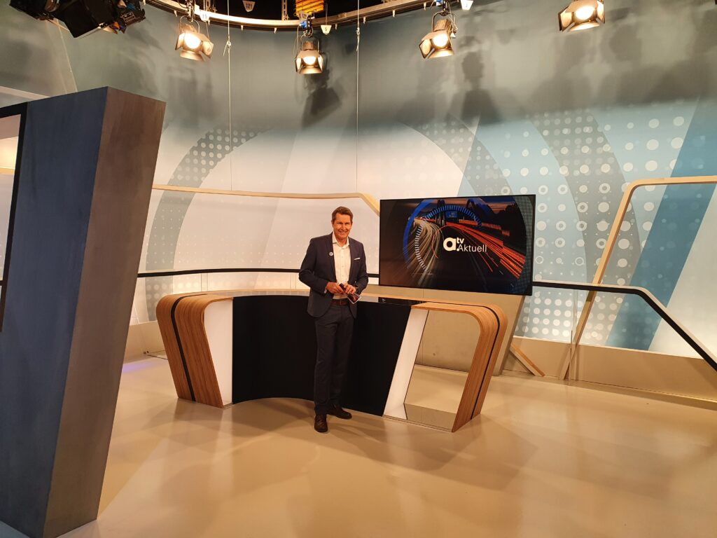 a.tv, atv, studio, umbau, das, neue, augsburg, tv